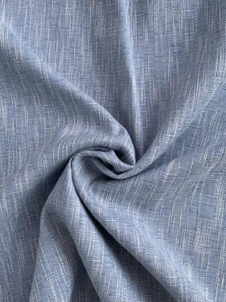 Brokatstoff Blau/Silber