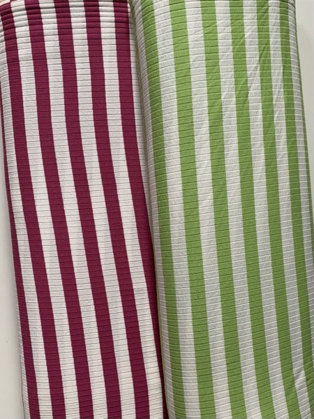 Viskosejersey Stripes Apple/Pink