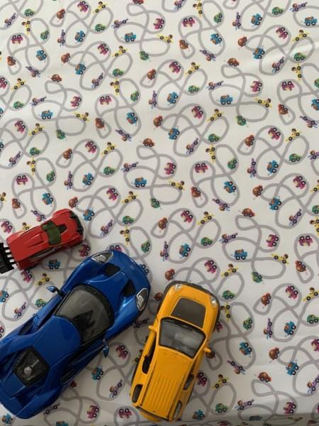 Baumwollstoff Autos
