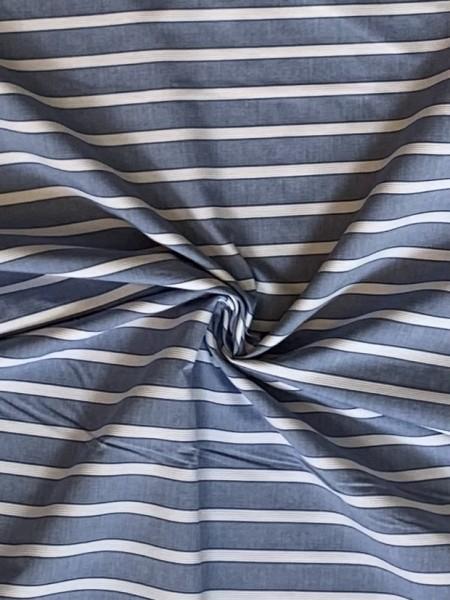 Streifen Hellblau/Weiß